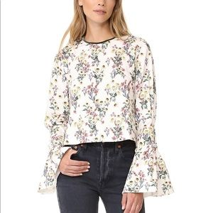 Mother of Pearl Floral Miller Top